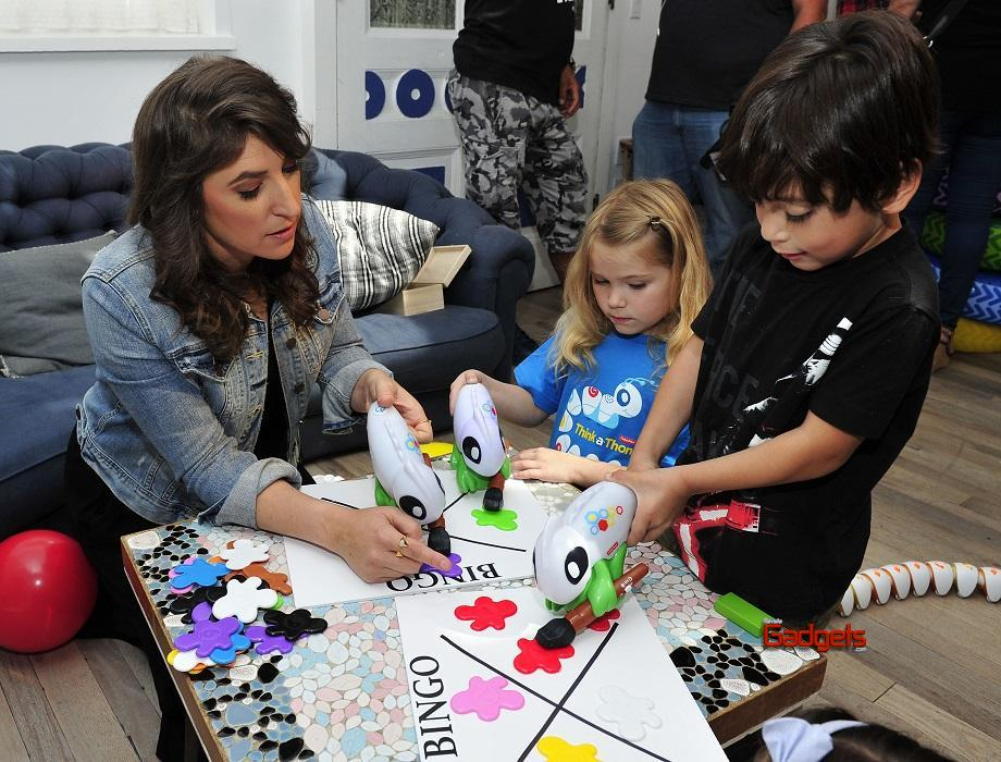 - Los Angeles, CA - 09/26/2016 - Mayim Bialik introduces little learners to the Think & Learn Code-a-pillar/Smart Scan Chameleon at the Fisher-Price Think-a-Thon event in Los Angeles.  The Think-and-Learn line encourages critical thinking skills that preschoolers need for the future, through active play. -PICTURED: Mayim Bialik -PHOTO by: Michael Simon/startraksphoto.com -MS343473 Editorial - Rights Managed Image - Please contact www.startraksphoto.com for licensing fee Startraks Photo Startraks Photo New York, NY  For licensing please call 212-414-9464 or email sales@startraksphoto.com Image may not be published in any way that is or might be deemed defamatory, libelous, pornographic, or obscene. Please consult our sales department for any clarification or question you may have Startraks Photo reserves the right to pursue unauthorized users of this image. If you violate our intellectual property you may be liable for actual damages, loss of income, and profits you derive from the use of this image, and where appropriate, the cost of collection and/or statutory damages.