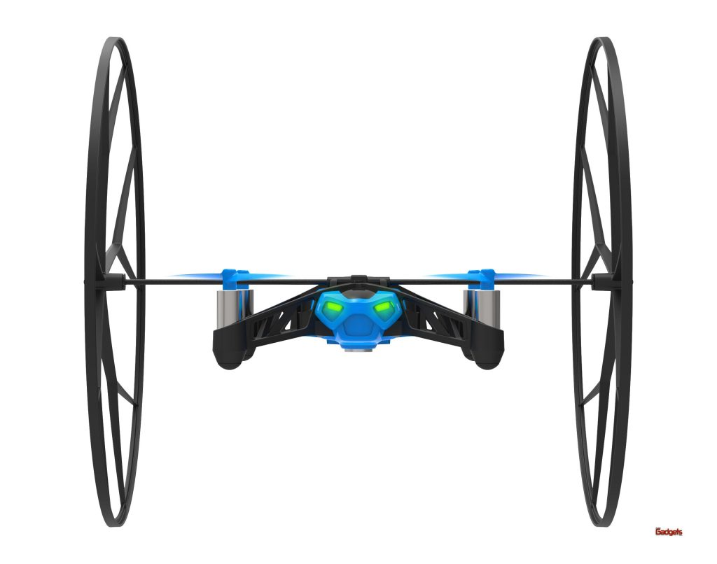 ParrotRollingSpider_BLUE_FrontView_Wheels