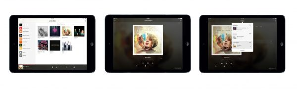 Sonos Controller V5-3 en tablet IOS