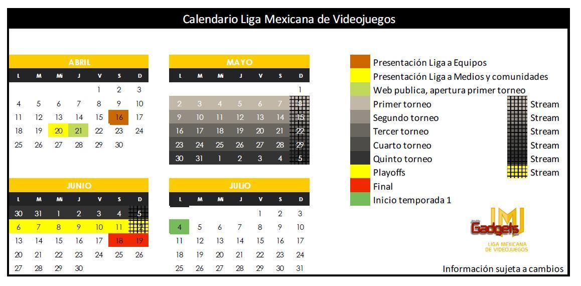 calendario LMV