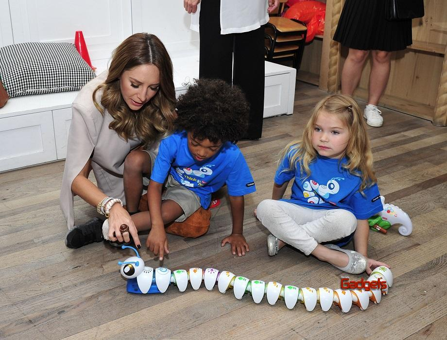 - Los Angeles, CA - 09/26/2016 - Mayim Bialik introduces little learners to the Think & Learn Code-a-pillar/Smart Scan Chameleon at the Fisher-Price Think-a-Thon event in Los Angeles.  The Think-and-Learn line encourages critical thinking skills that preschoolers need for the future, through active play. -PICTURED: Mayim Bialik -PHOTO by: Michael Simon/startraksphoto.com -MS343498 Editorial - Rights Managed Image - Please contact www.startraksphoto.com for licensing fee Startraks Photo Startraks Photo New York, NY  For licensing please call 212-414-9464 or email sales@startraksphoto.com Image may not be published in any way that is or might be deemed defamatory, libelous, pornographic, or obscene. Please consult our sales department for any clarification or question you may have Startraks Photo reserves the right to pursue unauthorized users of this image. If you violate our intellectual property you may be liable for actual damages, loss of income, and profits you derive from the use of this image, and where appropriate, the cost of collection and/or statutory damages.